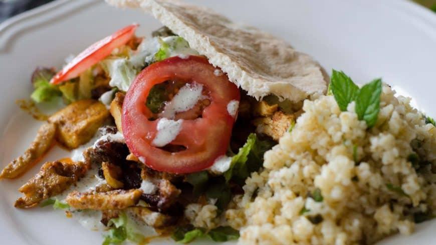 Kebab maison & boulgour à la menthe et au citron