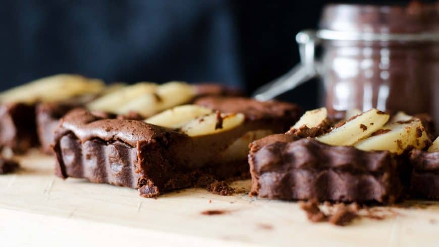 Tarte aux poires & au chocolat
