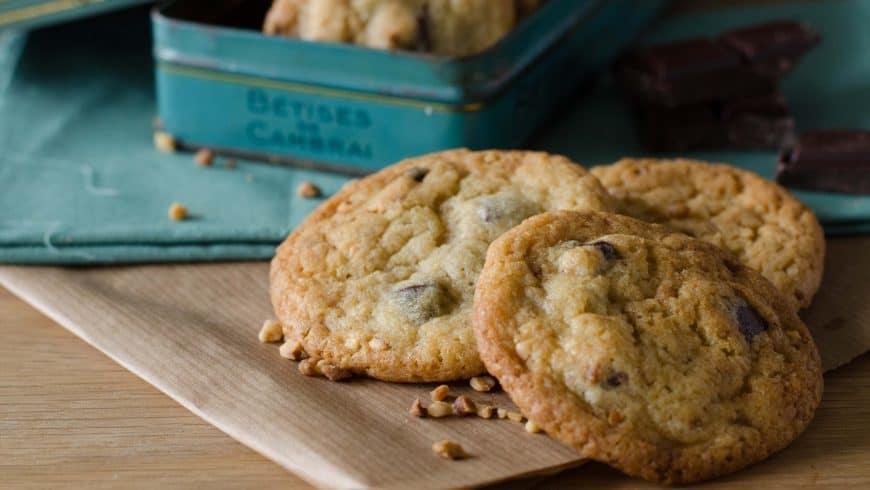 Cookies aux pépites de chocolat & nougatine