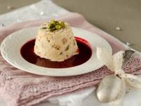 Nougat glacé & coulis mûre-framboise