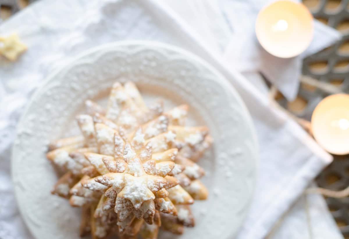 Sapin de Noël enneigé {sablés amande-orange}