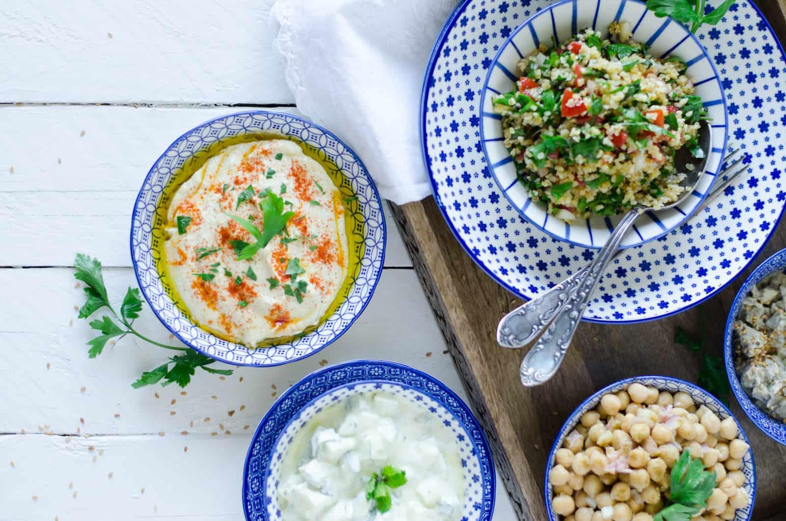 Houmous & salade de pois chiches