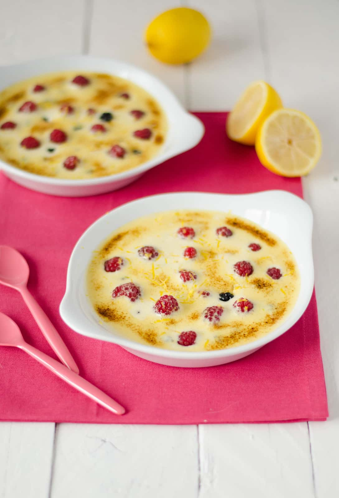 Gratins de fruits rouges au sabayon