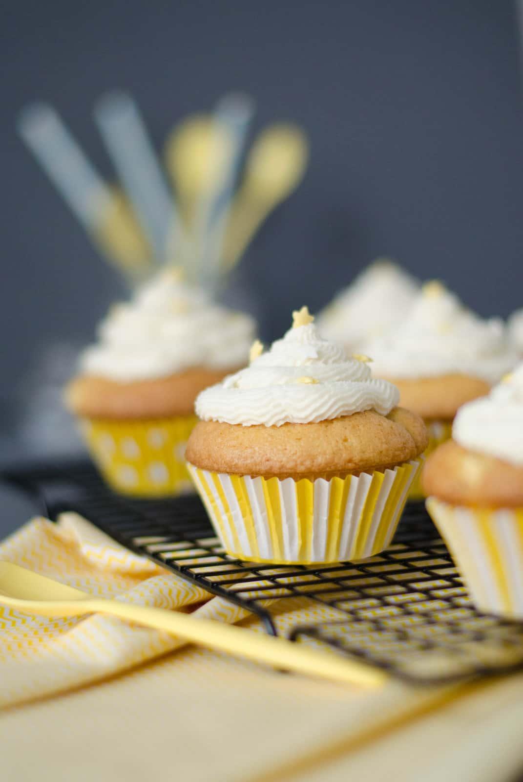 Cupcakes à la pomme & glaçage au beurre d'érable