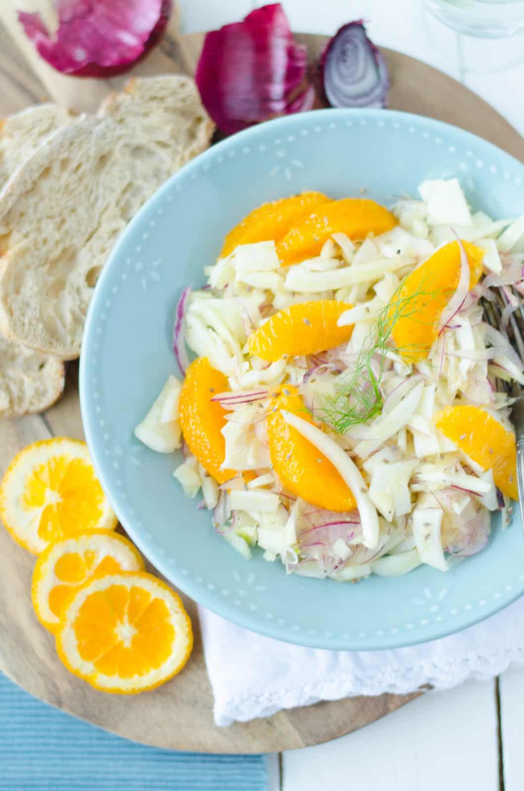 Salade de fenouil à l'orange & à l'anis vert