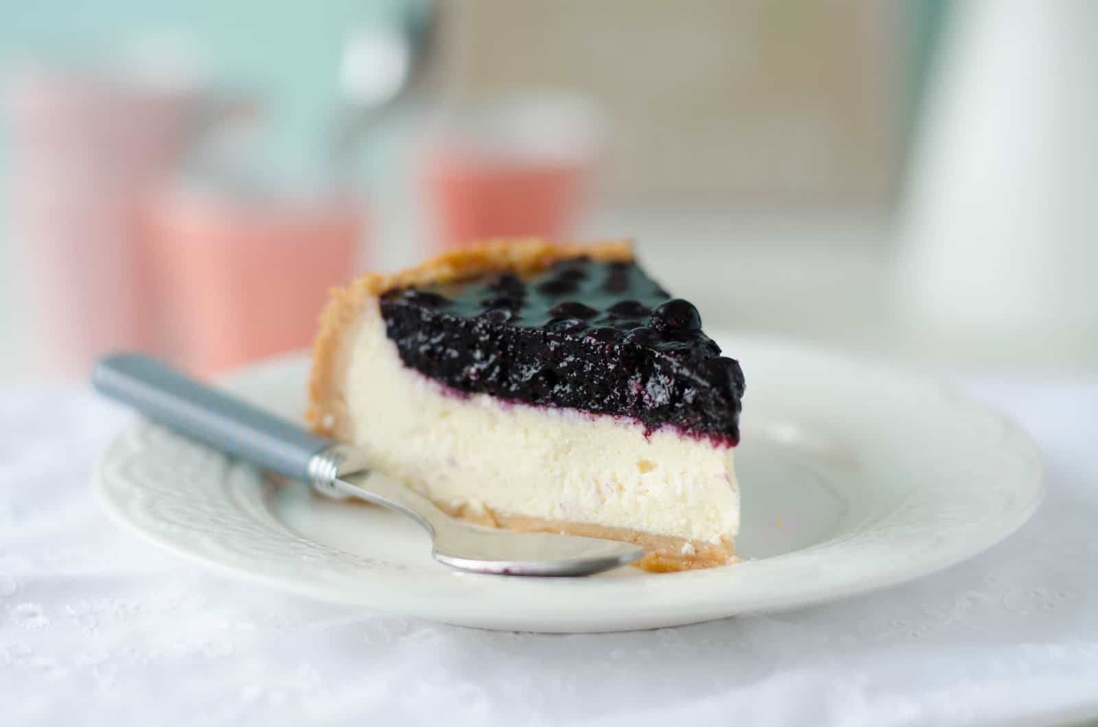 Cheesecake aux myrtilles sauvages