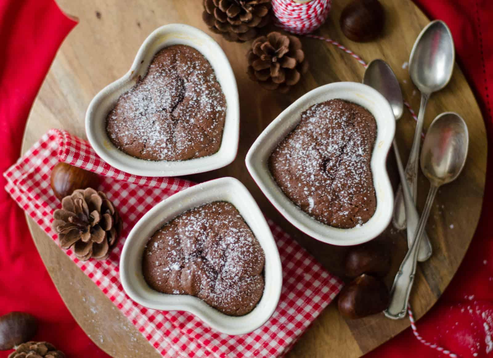 {Saint-Valentin } Moelleux au chocolat & à la crème de marron